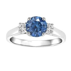 SOLITAIRE CERTIFIED ENGAGEMENT RING SOLID 14 K WHITE GOLD 1.00 CT BLUE DIAMOND #DiscoverDiamond #Engagement