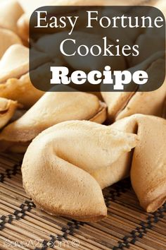 Check out our new and Easy Fortune Cookies Recipe! If you've ever wanted to make your very own unique fortune cookies, now you have the chance!