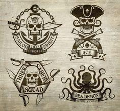 pirate skull tattoos traditional - pirate skull tattoos & pirate skull & pirate skull drawing & pirate skull and crossbones & pirate skull tattoos for men & pirate skull art & pirate skull tattoos traditional & pirate skull drawing simple Pirate Art, Pirate Life, Pirate Theme, Pirate Skull Tattoos, Pirate Tattoo Images, Pirate Flag Tattoo, Pirate Ship Drawing, Tatuaje Old School, Totenkopf Tattoos