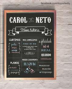 Chalkboard casamento - arte digital