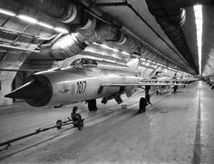 Mig - 21s at undeground Željava air base of former Yugoslav army