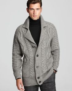 Mens Fashion Stores Near Me Knit Jacket, Wool Cardigan, Sweater Jacket, Men Sweater, Formal Shirts For Men, Mens Jumpers, Sweater Fashion, Pulls, Hand Knitting