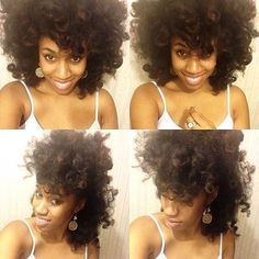 @luvs_2smile All down vs Clipped towards the middle. #hair2mesmerize #naturalhair #healthyhair