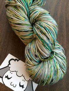 Moon Pie Merino 75/25 Hand-Dyed Speckled Sock by LambyToesShop