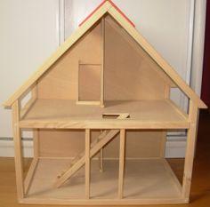 Handmade Wooden Dollhouse . Dollhouse  Wood by PaulaBPires on Etsy, €80.00