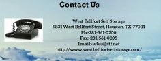 West Bellfort Self Storage offers secure, safe and affordable services that can be used for personal and commercial purposes. For more details:- http://www.westbellfortselfstorage.com/