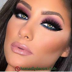 much is clinique eye makeup remover makeup small eyes eye makeup. - Eye make-up - Purple Makeup Looks, Blue Eye Makeup, Smokey Eye Makeup, Glam Makeup, Eyeshadow Makeup, Eyeliner, Sexy Eye Makeup, Purple Smokey Eye, Casual Makeup