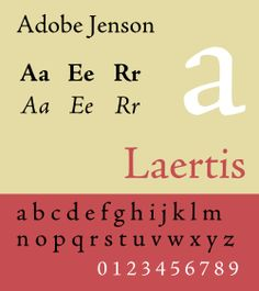 Adobe Jenson.svg  It is a classic old style typeface. Well suited for the organic nature of a museum. Finally rendered Serif's in very detail. It's a very sturdy looking type, like it will last. It has modern contrast between the boldest and thinnest strokes. It's all organic, there are no straight lines. Nothing mechanical, nothing repetitive.