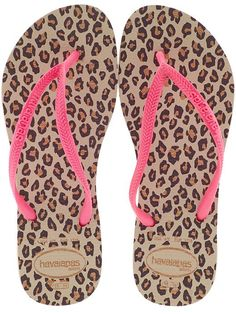 Havaianas - hot pink & animal print