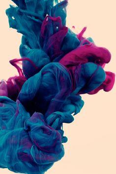 Blue Smoke #iPhoneWallpaper