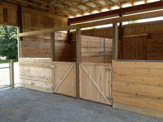 Barn Stalls, Horse Stalls, Stables, Horse Barn Designs, Horse Shelter, Horse Barn Plans, Dream Barn, Tallit, The Ranch