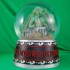 Cthulhu Rises - 14 Weird And Wonderful Snow Globes | Mental Floss