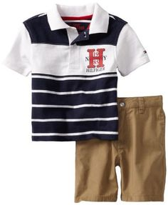 Tommy Hilfiger Baby-Boys Infant Randy Short Sleeve Stripe Polo With Poplin Flat Front, Swim Navy, 12 Months Tommy Hilfiger,http://www.amazon.com/dp/B00AU0MNRI/ref=cm_sw_r_pi_dp_uUssrb1XV7VF5F4Z