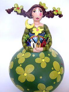 Vila de Gaia, Gourd Doll by Madu Lopes