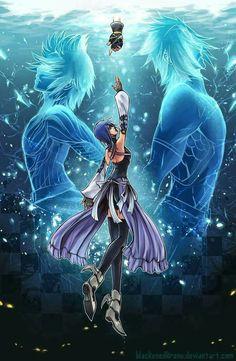 Kingdom Hearts Birth by Sleep Aqua, Terra, Ventus and Sora