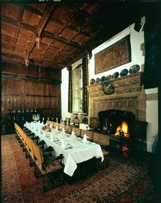 The Dining Hall at Hever Castle, once the great hall of the Boleyns.