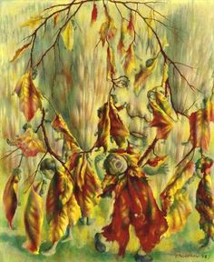 Pavel Tchelitchew (Павел Фёдорович Челищев) (Russian 1898–1957) [Surrealism] The Childhood of Orson, 1940.