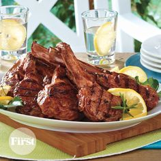 Balsamic-Rosemary Lamb Chops