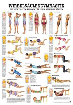 Wirbelsäulengymnastik – Rüdiger AnatomieWirbelsäulengymnastik – – Poster – Keep up with the times. Fitness Workouts, Fitness Del Yoga, Health And Fitness, Fun Workouts, Fitness Motivation, Beginner Workouts, Training Fitness, Body Workouts, 15 Minute Morning Yoga