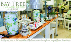 Bay Tree Home and Decor is located in the South Coast Mall on KZN, our coffee shop sells home made food and our decor section has something for everyone. Bathroom Accessories, Decorative Accessories, Decorative Items, Home Decor Items, Coffee Shop, Tea Cups, Advice, Range, Pop