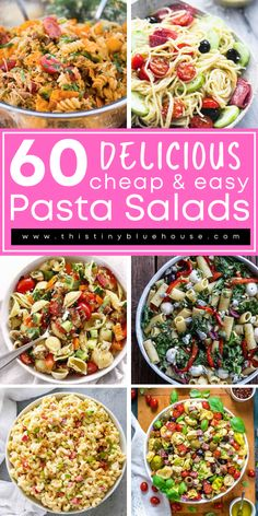 cheap, easy and delicious best summer pasta salad recipes. Perfect as a quick lunch or easy weeknight side dish. Summer Pasta Salad, Summer Salads, Healthy Family Meals, Family Recipes, Best Party Appetizers, Easy Pasta Salad Recipe, Easy Holiday Recipes, Cooking Recipes, Healthy Recipes