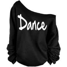 Dance Print Oversized Off Shoulder Raw Edge Sweatshirt ($29) ❤ liked on Polyvore featuring tops, hoodies, sweatshirts, sweaters, shirts, dark olive, women's clothing, oversized sweatshirts, patterned sweatshirts and oversized tops