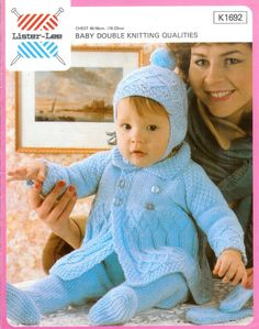 ON SALE Vintage pdf of Baby Knitting Pattern by avintagescot