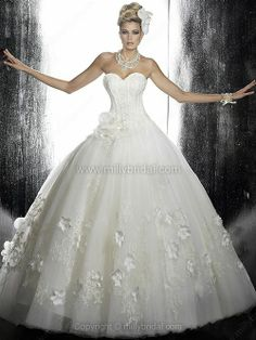 Ball Gown Sweetheart #wedding Dresses
