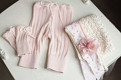 Upcycled Newborn Baby Girl Photography Prop Pants Tie Back Bonnet Warmers | eBay