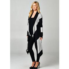 """Monochrome"" Colorblock Cardigan Heather grey and black high-low, colorblock cardigan. This piece is a great add on to any outfit! Perfect draping! Brand new WITHOUT tags. Bare Anthology Jackets & Coats"