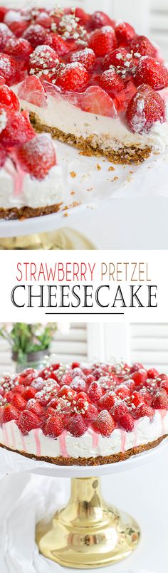 Strawberry Pretzel Salad Cake - the absolute BEST Recipe! | Erdbeer Brezel Torte - das absolut BESTE Tortenrezept im Sommer!