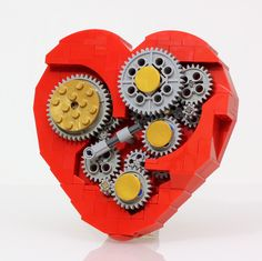 A working LEGO clockwork heart, including instructions for how to build it.