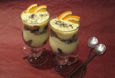 Narancsos guba kehely Desserts In A Glass, Guam, Trifle, Panna Cotta, Nom Nom, Sweet Treats, Dessert Recipes, Food And Drink, Pudding