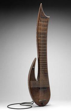 Electric guitar (Bar Rashi model)  about 1990 Avraham Bar Rashi (formerly Allan Gittler, 1928–2003)  Object Place: Kiriyat Arba, Israel