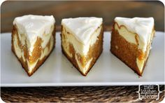 Carrot Cake Cheesecake; I'll be serving this on Easter for sure!