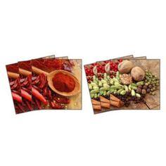 Dekorace - Nálepky na kachličky - Chilli a pepř 15