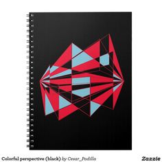 Colorful perspective (black) spiral note book