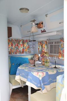 Vintage travel trailer interior... I wish I could find one of these to spruce up for a project
