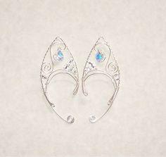 Elf Ear Cuffs Cystal Heart Bonus Gift Box by SummerWoodCrafts