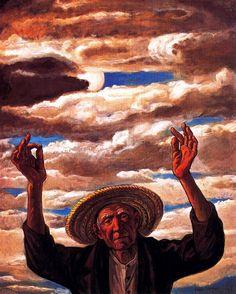 Jesús De Perceval  campesino clamando por la lluvia 1974
