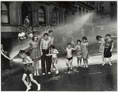 """""""Summer on the Lower East Side"""" by Weegee (Arthur Fellig), gelatin silver print, x cm x 16 in.), © Weegee / International Center of Photography. Weegee Photography, Modern Photography, Children Photography, Street Photography, Candid Photography, Documentary Photography, Lower East Side Nyc, New York Photographers, Photo Store"""