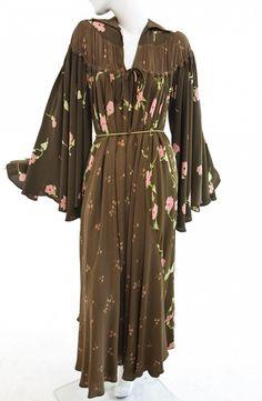 Ossie Clark - Crepe dress, Print by Celia Birtwell | Manhattan Vintage Clothing Show