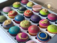 Mehndi Cake Toppers : Fondant cupcake toppers artist palette sweets