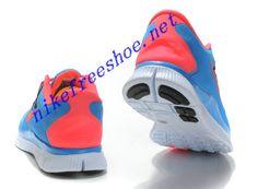 Nike Free Run 4 Mens Hyper Blue Total Orange White