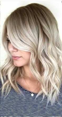 Blonde baylage #hairstyle