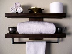 bathroom shelves floating shelves towel rack bathroom shelf wall