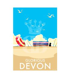 Vintage prints and posters available to buy at www.beckybettesworth.co.uk  #vintage #travelposters #seasideprints #lovelyquotes #makememories #devonartist #cornwall #devon #giftideas #freedelivery #christmas #beckybrttesworth