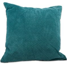 Chenille Spot Cushion Filled Teal