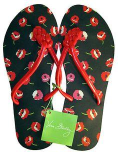 412d7005da4217 Vera Bradley Poppy Fields Printed Flip Flops Sandals Thongs Med 7 8 New