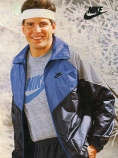Men's Nike T-Shirt & Jacket from a 1985 catalog.